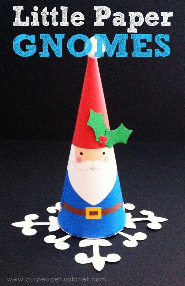 Little Paper Gnome Printable DIY