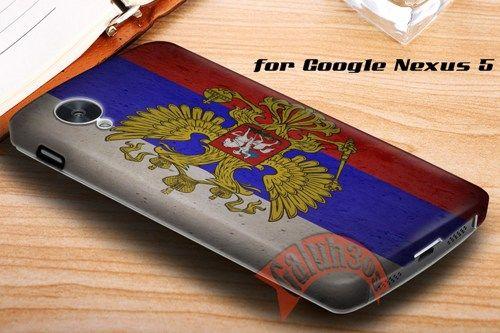 Grunge Flag of Russia Emblem Google Nexus 5 Case Cover | galuh303 - Accessories on ArtFire