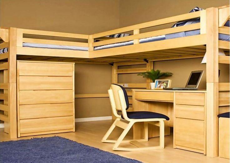hardwood loft bed with desk. 58 best Bedroom   loft beds images on Pinterest   Lofted beds