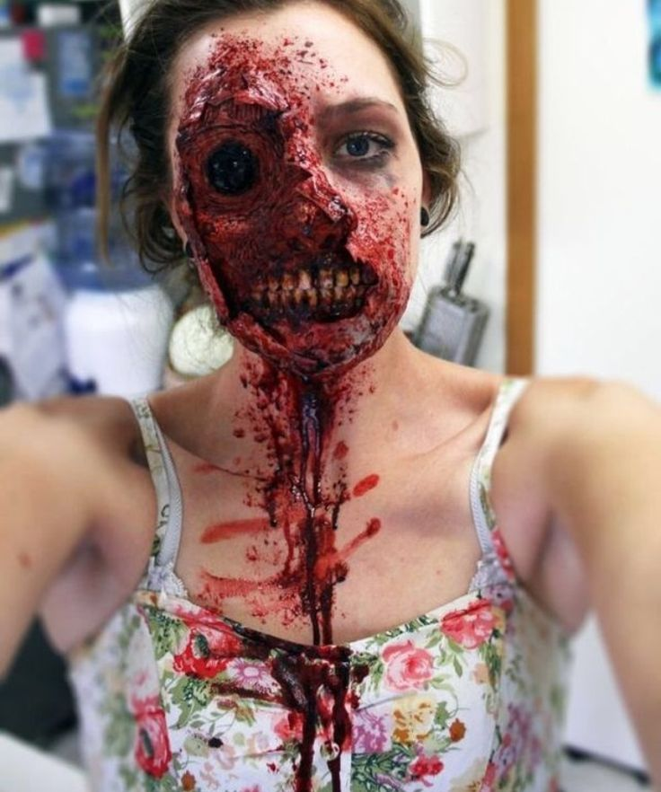 very cool and scary zombie girl makeup very cool and scary zombie girl makeup - Best Halloween Makeup To Use