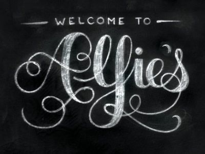 Marvellous Chalkboard Typography