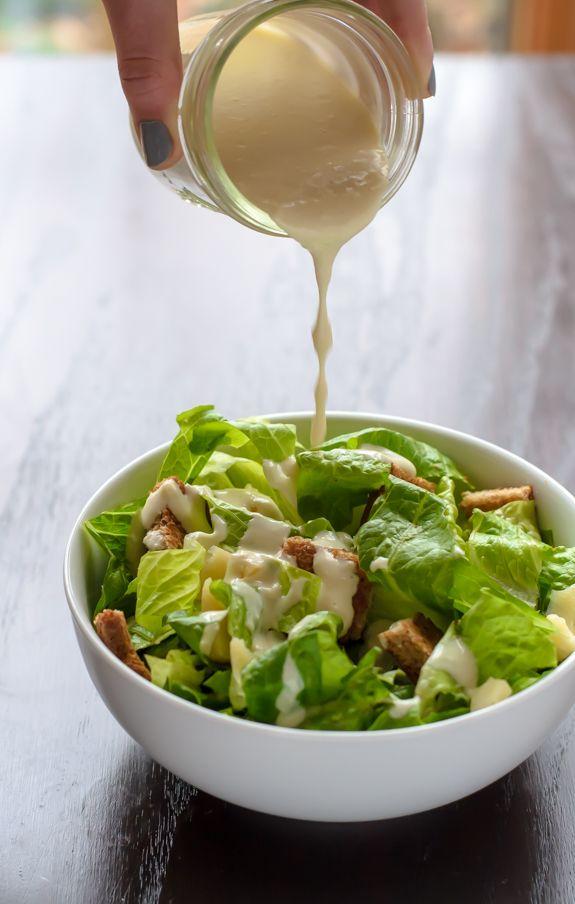 Homemade Caesar Dressing. Healthy and easy recipe