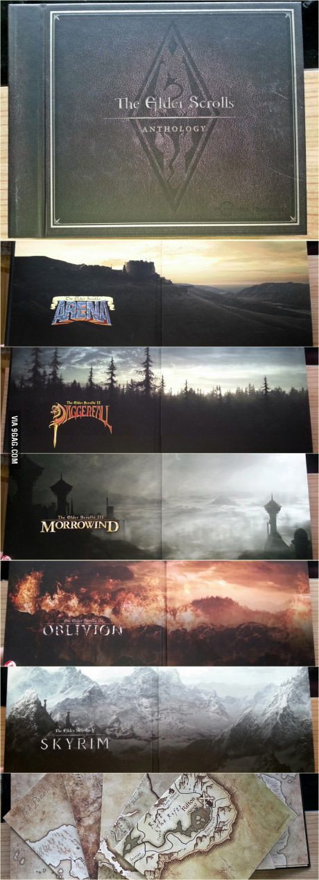 Now look at this beauty. Elder Scrolls is love. Elder Scrolls is life. Arena. Daggerfall. Morrowind. Oblivion. Skyrim. http://amzn.to/2pfClkD