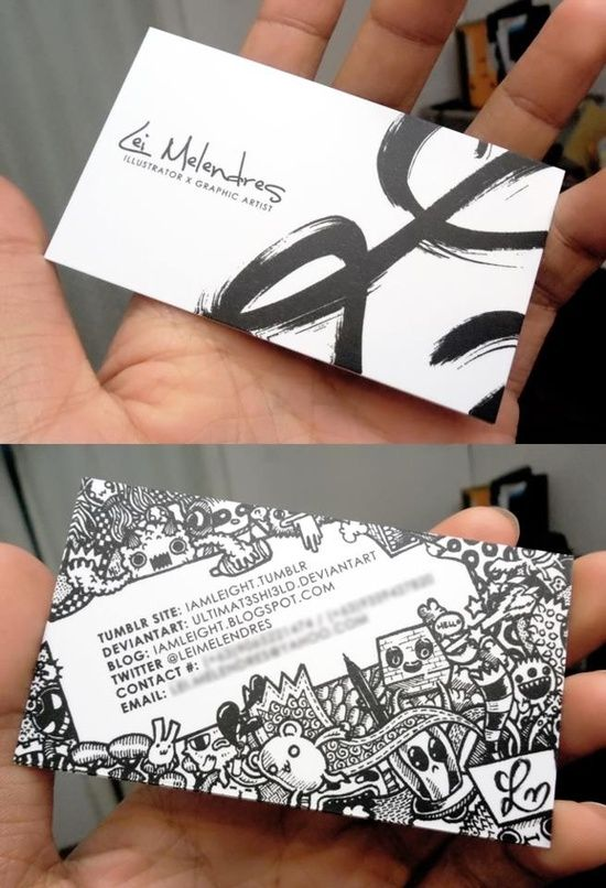 This is a great example of using an intricate illustration on a business card while still leaving enough white space to draw attention to the text and making it readable!