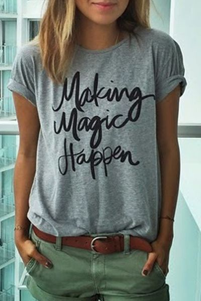 making magic happen tee /// wearing words