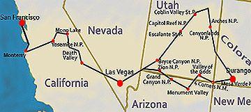 Abenteuer Reise im USA Westen - National Parks und Pazifische Kueste