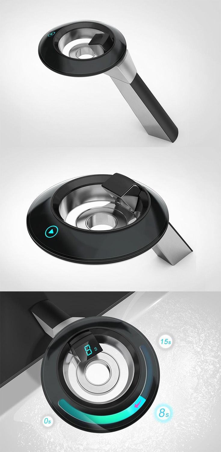 The 'Faucet' is a simple and clean design which boasts of a capacitive touch control system that allows you to not just power the faucet, but also allows you to set a timer for on/off functions, allowing you to control and monitor your water usage... READ MORE at Yanko Design !