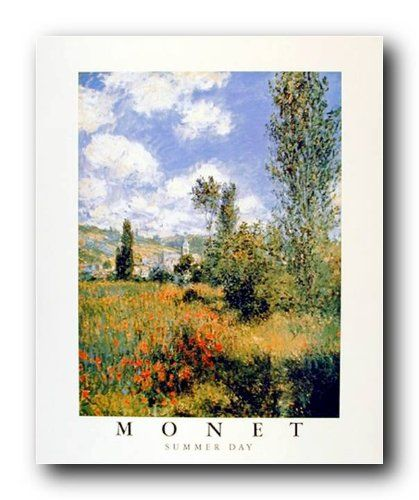 A day at the beautiful garden! This elegant Claude Monet Summer Day Garden art print poster brings timeless appeal to your decor. It helps to complete your collection with this excellent fine art print poster. Monet is famous French painter who was born on 14 November 1840 in Paris. The Impressionist painter Claude Monet enjoyed working outside in his garden or in the streets of Paris. The natural light allowed him to capture fleeting moments.
