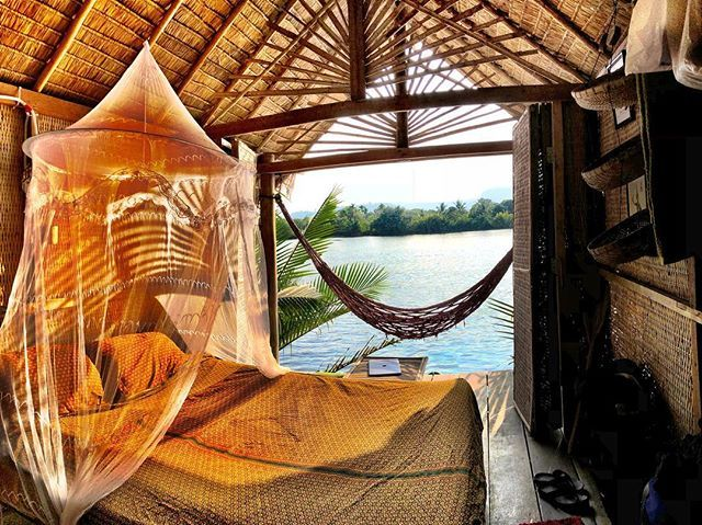 Office for today with a view.  what I safe in rent for tonight I will invest in mosquito spray.  #tonsofmosquitospray #adventurers #notafraidofmosquitos #theywilleatdanielleinsteadofme #thankyouforprotectingme  #cambodia #kampot #realadventure #buttheyhavecocktails