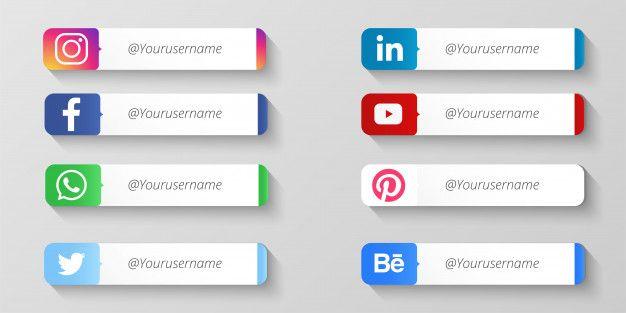 Download Modern Social Media Lower Thirds For Free First Youtube Video Ideas Learn Social Media Social Media