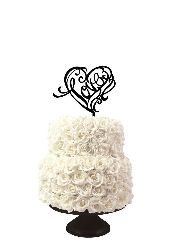 taarttopper love, caketopper love, available @www.lvly.nl weddingcaketopper, bruidstaart decoratie