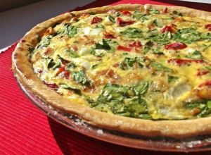 Pancetta, Roasted Red Pepper & Spinach Quiche