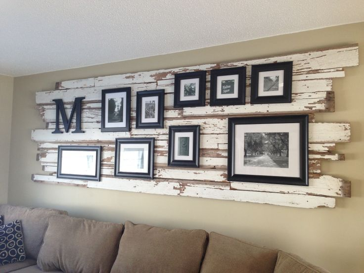 Classy rustic wall decor. -------------------- #picture #frames #tips…