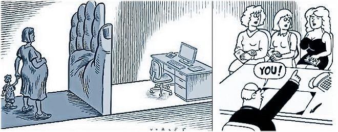 la mujer en el ambito laboral - caricatura
