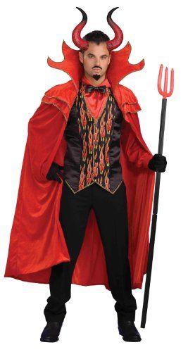 Forum Novelties 214339 Mega Devil Adult Horns - Black-Red - One-Size