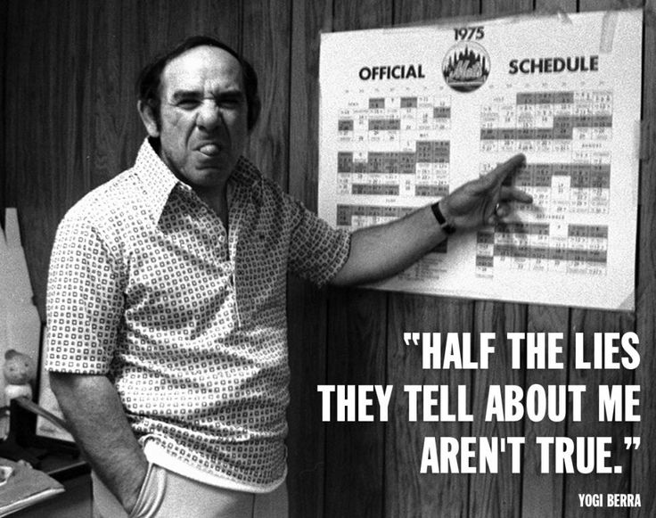Yogi Berra looks displeased as he reviews the Mets schedule at Shea Stadium on May 5, 2015.