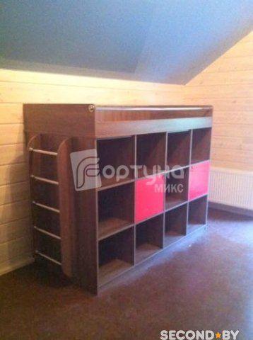 Детская Мебель под заказ в Минске. Система хранения для детской с кроватью…