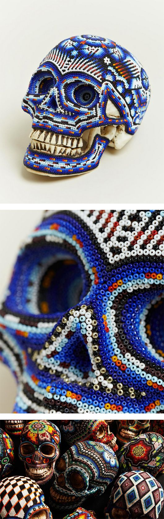 Day of the Dead: Beaded Skulls by Our Exquisite Corpse #mexica #dayofthedead