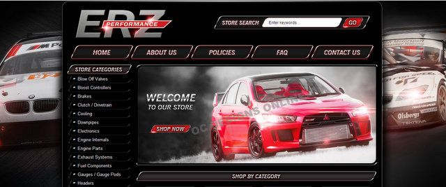 ERZ Performance auto parts gets new eBay store design!