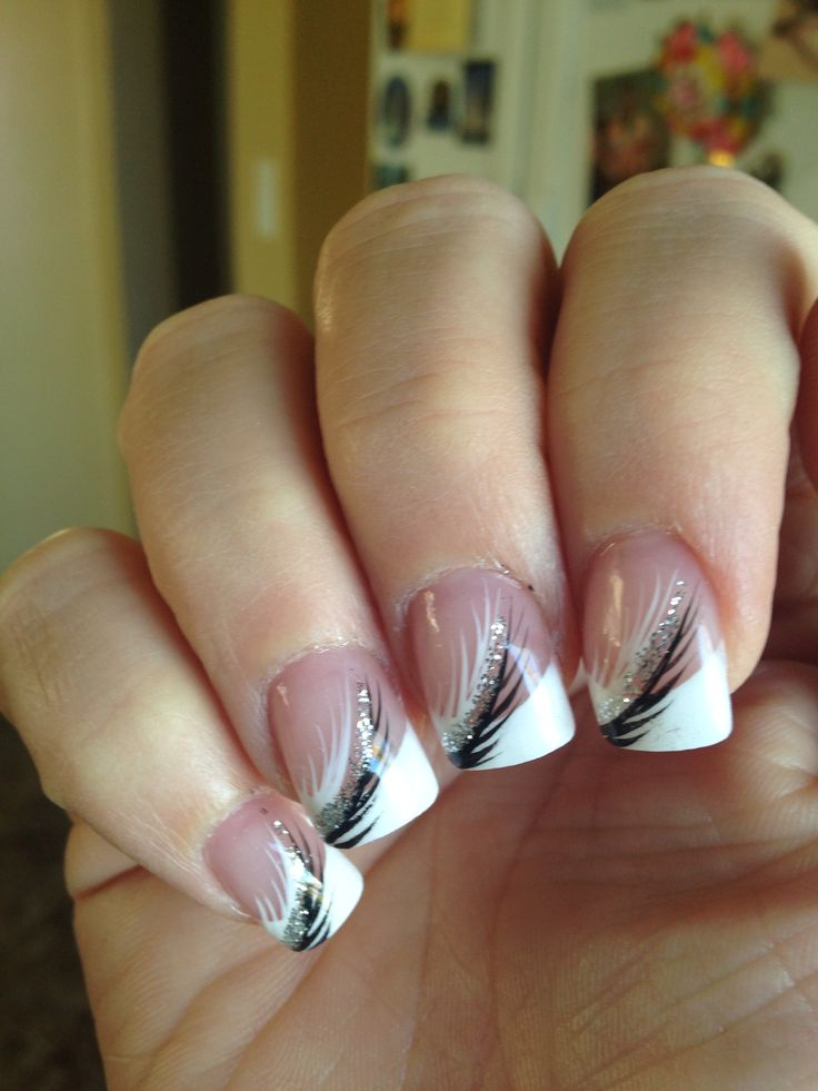 Best 25+ Silver French Manicure Ideas On Pinterest