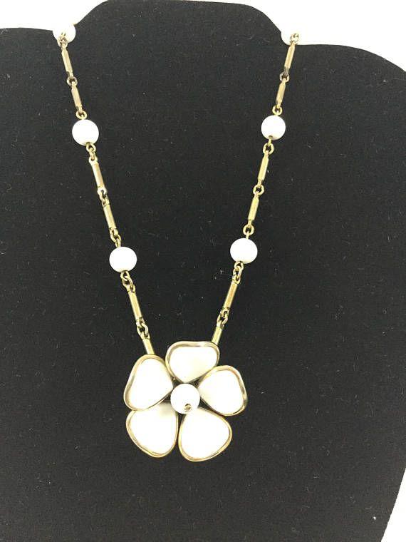 Vintage Trifari Patent Pending Necklace Vintage Trifari White