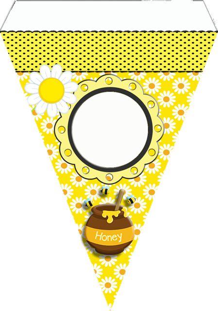 """Kit de Aniversário Tema """"Abelhinhas"""" para Imprimir - CALLY'S DESIGN-Kits Personalizados Gratuitos"""