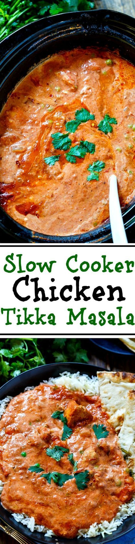 Slow Cooker Tikka Masala. With this easy recipe you can enjoy one of your Indian restaurant favorites at home.