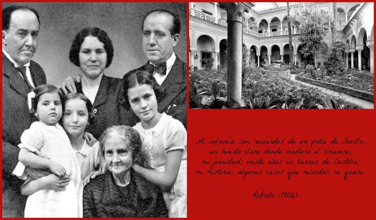 Antonio Machado y su familia. El Palacio de Dueñas, Sevilla.