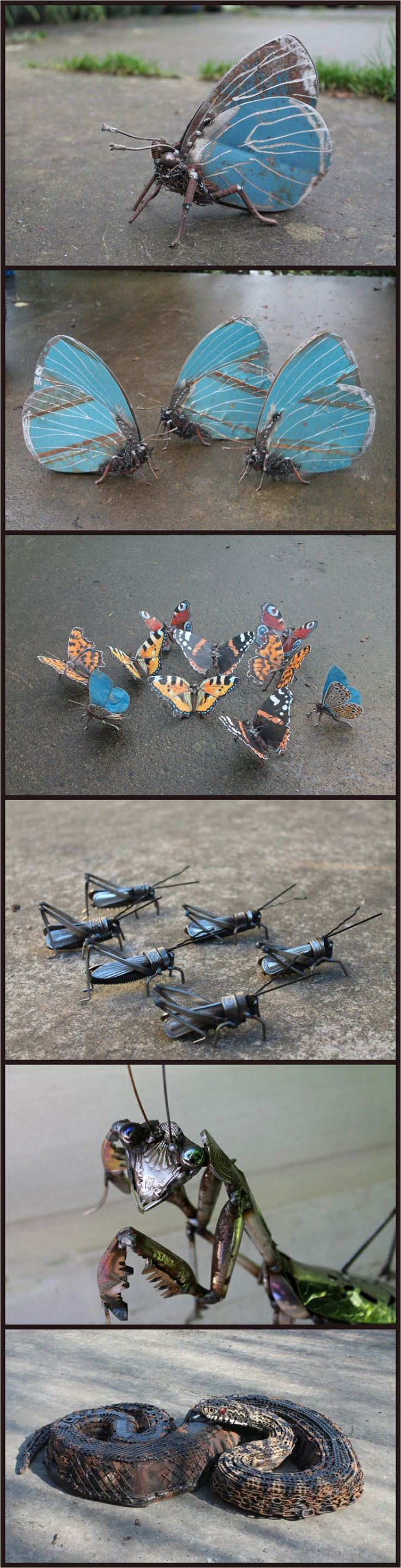 Best Sculpture And Other D Art Images On Pinterest Animal - Artist transforms scrap metal into amazing animal sculptures