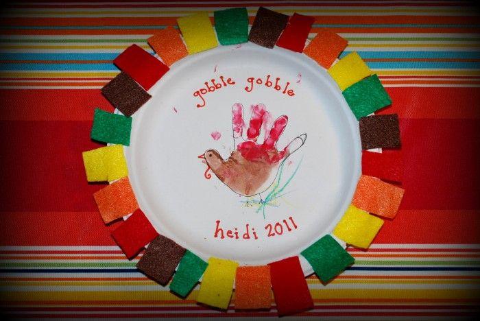 Thanksgiving Turkey Handprint Craft for Kids