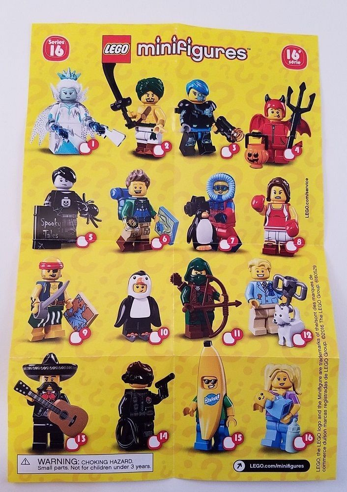 LEGO MINIFIGURE 71013 SERIES 16 FULL COMPLETE SET FREE POST BANANA GUY PRE ORDER #LEGO