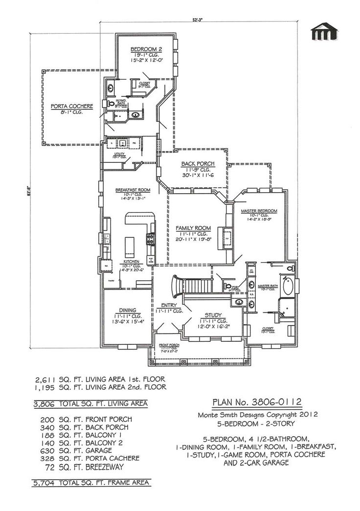 5 Bedroom House Plans 1 Story: 32 Best Images About House Plans On Pinterest