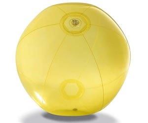 Strandbal van transparant PVC.