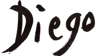 DiegoVoci™ DIEGO Brand Signature created by Coop Cooprider with Diego. This artwork is in the Private Collection of Cooprider.