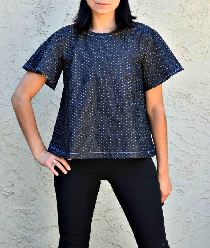 Heather Sewn Top Pattern - The Heather Sewn Top Pattern is a free printable sewing pattern that comes in several sizes. This stylish project features a flared short sleeve and an a-line top. These features combine to create a casual and comfy top that is perfect for lazy days or nights out. Pair this free sewn top pattern with some leggings or distressed jeans for an ultra-hip look. If you are just starting to learn how to make your own clothes, this cute pattern is a great place to start.