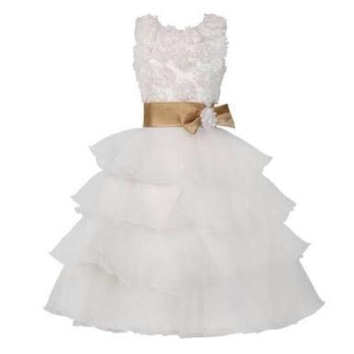 white dress for baby girl for wedding