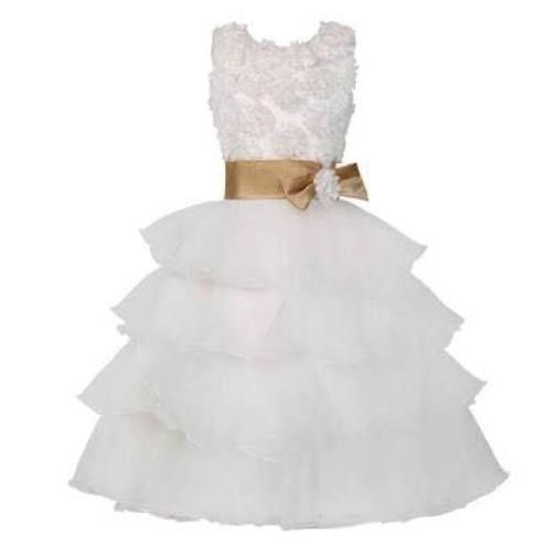 white dress for baby girl for wedding