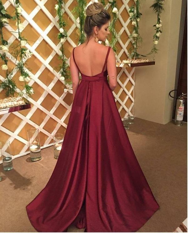 vestido de festa 2017 marsala ou vinho
