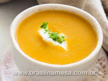 Sopa Emagrecedora de Frango,Batata-Doce, Cenoura e Gengibre.   Receitas - Dietas - Gastronomia - Brasil na Mesa