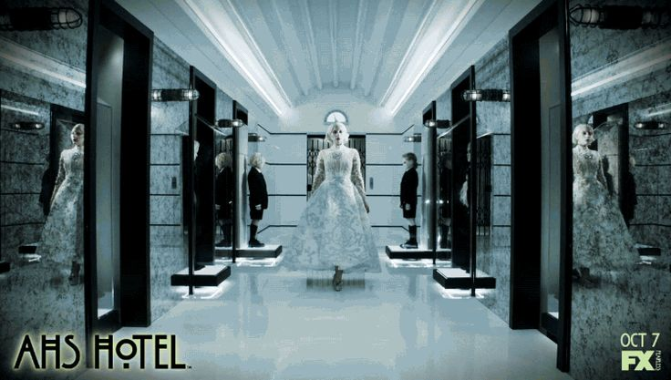 She rules the night dressed in white. American Horror Story: Hotel premieres 10 PM Oct 7 2015