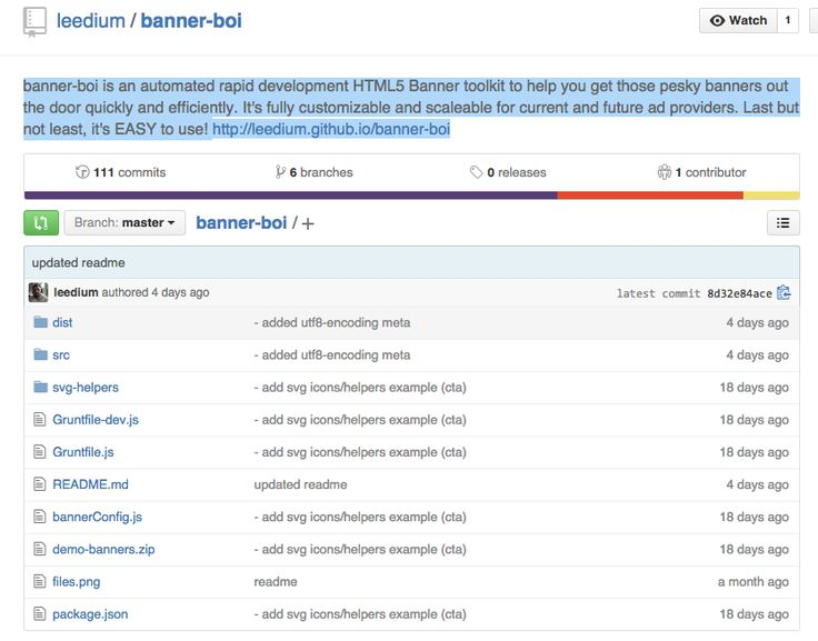 banner-boi is an automated rapid development HTML5 Banner toolkit to help you get those pesky banners out the door quickly and efficiently. It's fully customizable and scaleable for current and future ad providers. Last but not least, it's EASY to use! http://leedium.github.io/banner-boi
