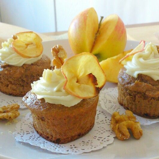 cupcake de manzana sin azúcar
