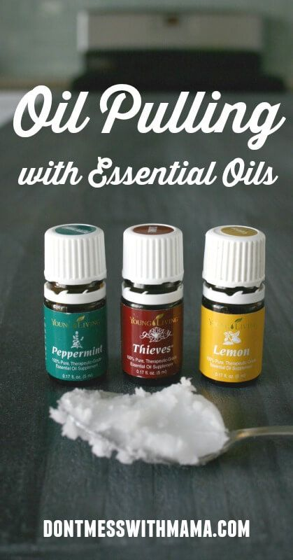 How To Do Oil Pulling with Essential Oils #coconutoil #oilpulling #essentialoils - DontMesswithMama.com