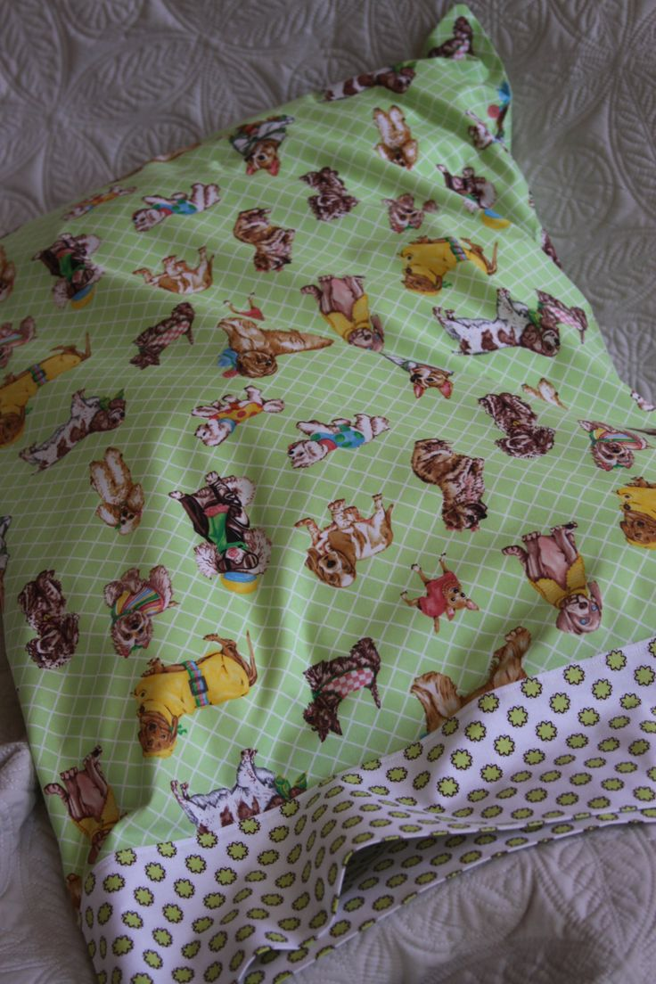 Dogs on the Green, Standard Pillowcase, Made by Kids 4 Kids, Charity Item by stitchemup on Etsy
