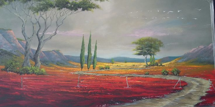 120 cm x 61 cm x 35 mm Sealed Acrylics on Stretched Canvas Panel...R 2000