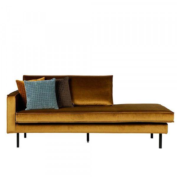 Sofa Recamiere Habanas In Honigfarben Samt Mit Armlehne Links Recamiere Sofa Design Mobeldesign