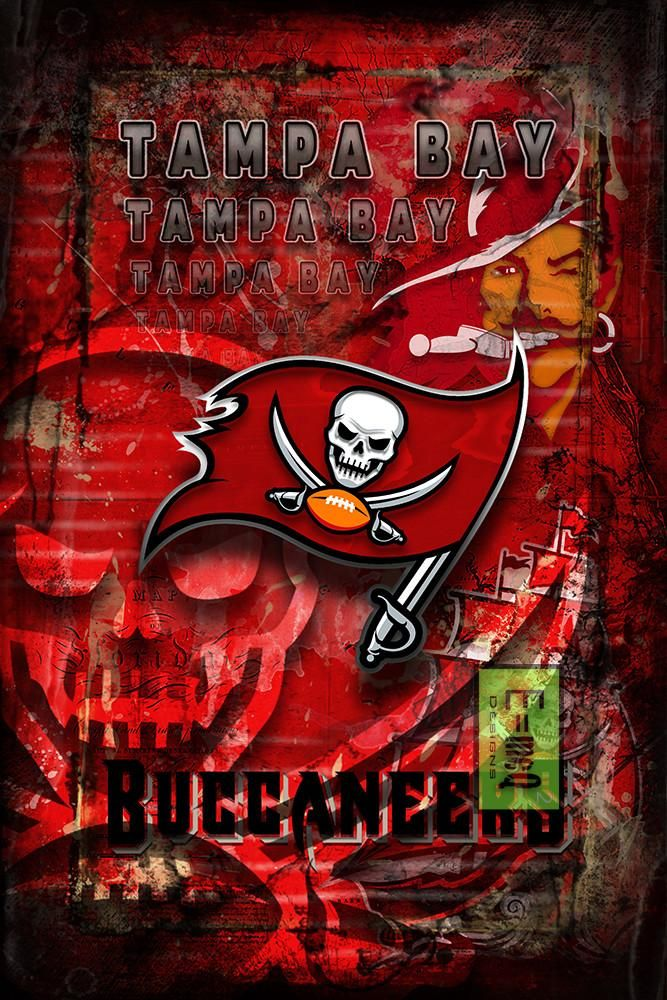 Tampa Bay Buccaneers Football Poster, Tampa Bay Buccaneers Artwork, Bu                      – McQDesign