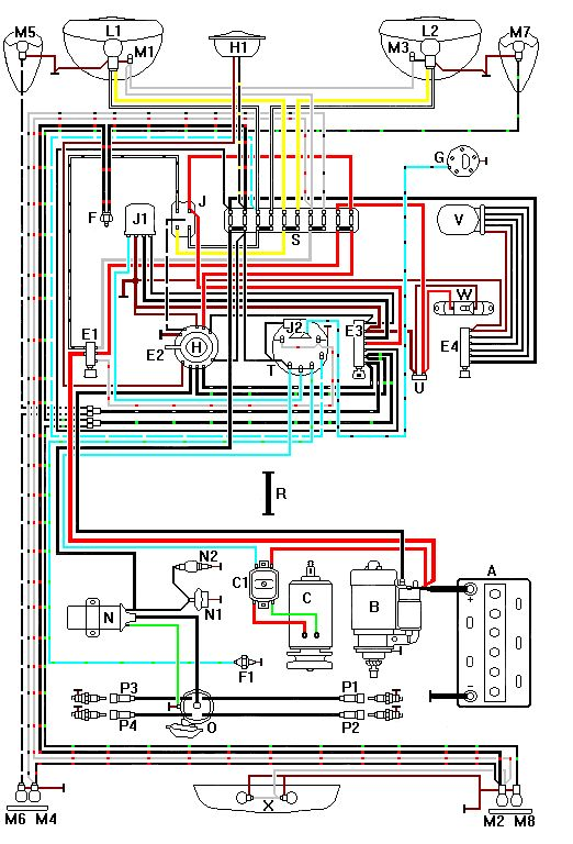 Image result for 1974 vw thing wiring diagram | Motorcycle ...