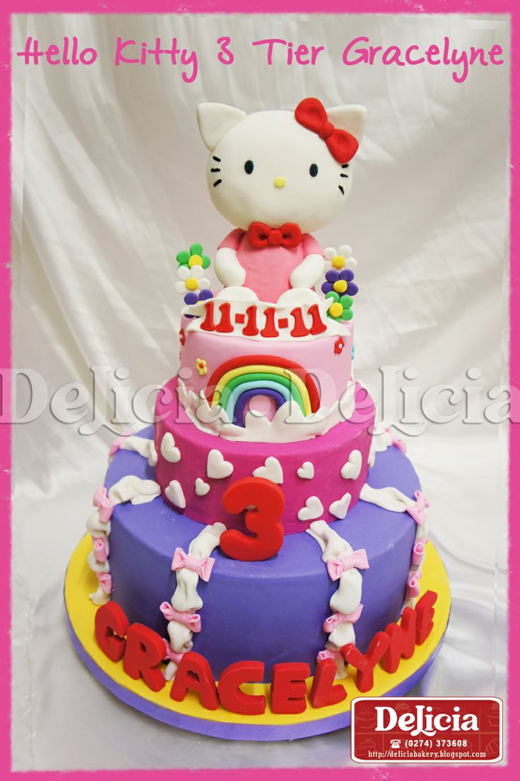 ice cream birthday cakes delivered | Hello Kitty Birthday Cake n Cupcake Set