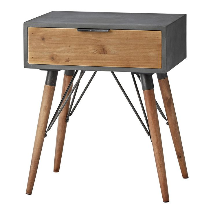 Lene+Bjerre+Lynn+Side+Table+With+Drawer+-+Pine+drawer+side+table+with+iron+frame. Accent+your+interior+with+the+contemporary+charisma+of+the+Lene+Bjerre+Lynn+Side+Table+With+Drawer. This+distinctive+designer+side+table+is+the+perfect+complement+for+your+bedside+or+for+providing+a+resting+place+for+your+living+room+table+lamp. Rustic+with+a+nod+to+Mid+Century+style,+Lynn+features+a+distinctive+iron+frame+and+angular+spindle+table+legs. Providing+stylish+storage,+the+table+also+includes+a+...